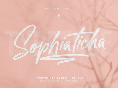 Sophiaticha Handwritten Brush signature