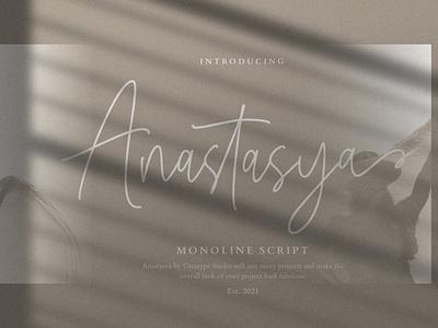 Anastasya Monoline Script signature