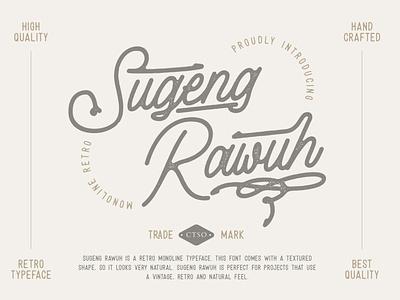 Sugeng Rawuh Monoline Retro sans-serif