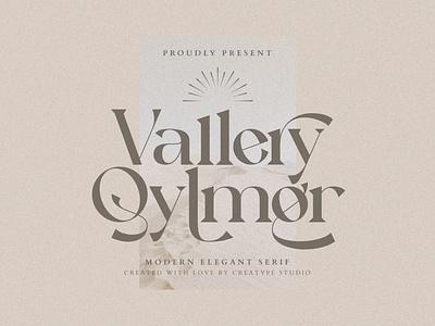 Vallery Qylmor Modern Elegant Serif sans-serif