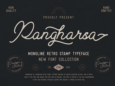 Pangharsa Monoline Retro Stamp brush