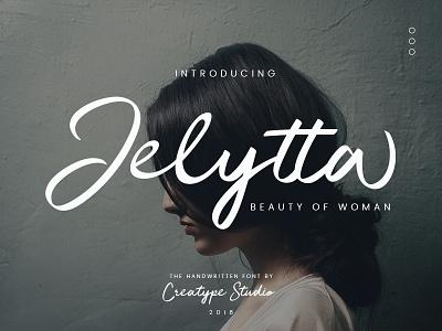 Jelytta Handwritten Font elegant luxury stylish branding logo style fashion natural casual script handwritten handwriting