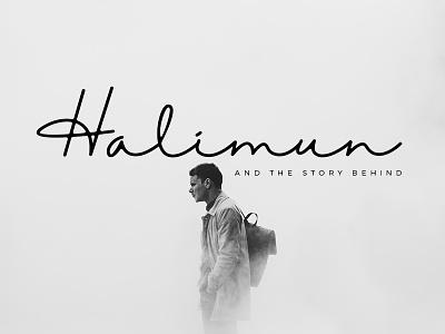 Halimun Script Style elegant luxury stylish branding logo style fashion natural casual script handwritten handwriting