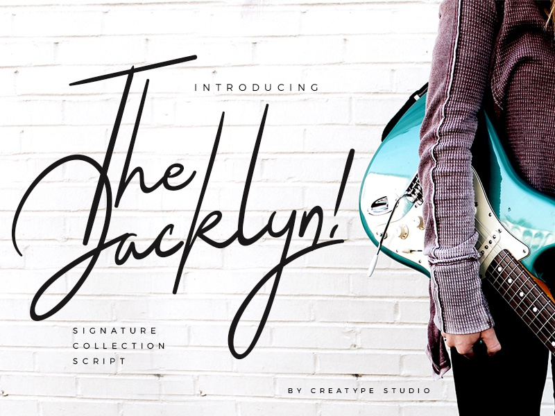 The Jacklyn Signature Font elegant luxury stylish branding logo style fashion natural casual script handwritten handwriting