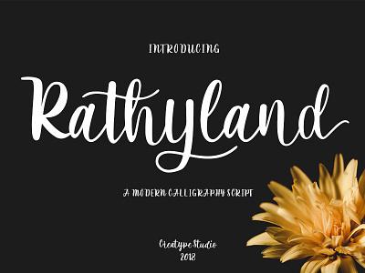 Rathyland Script elegant luxury stylish branding logo business fashion natural casual script handwritten handwriting