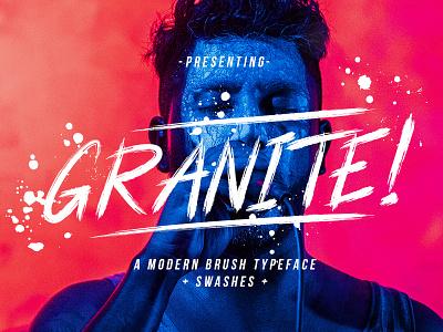 Granite Brush Font paintbrush sign stylist marker ligature handmade swashes logo handlettering urban handwritten brush