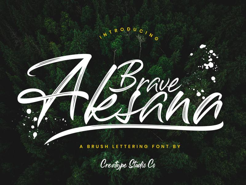 Aksana Brush Script paintbrush sign stylist marker ligature handmade swashes logo handlettering urban handwritten brush