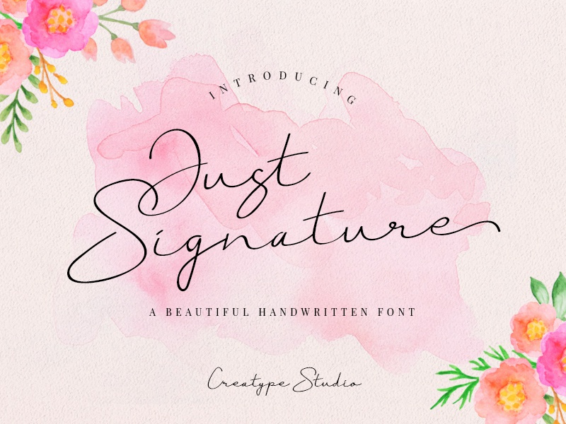 Just Signature Script branding signature typography logo fashion natural casual script handwritten handwriting