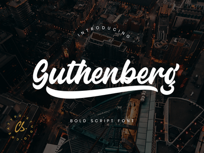 Guthenberg Bold Script branding style natural casual script handwritten rough stamp retro bold brush handwriting