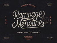 Rampage Monoline Script