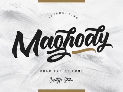 Maghody Script branding signature typography logo fashion retro vintage script handwritten handwriting