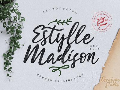 Estylle Madison Calligraphy business handdrawn beauty classy elegant branding signature typography logo calligraphy modern casual script handwritten handwriting