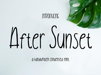 After Sunset free ligature handlettering stylish elegant fashion script handwriting branding logo handwritten