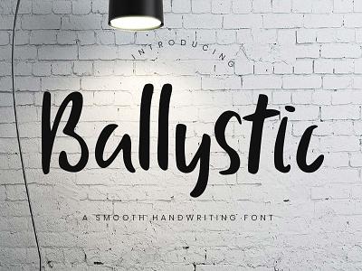 Ballystic Handwriting Typeface stylish script logo ligature handwritten handwriting handlettering free fashion elegant branding