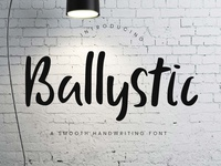Ballystic Handwriting Typeface - 100% FREE FONT