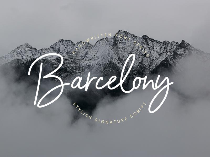 Barcelony Signature - 100% FREE FONT stylish script logo ligature handwritten handwriting handlettering free fashion elegant branding