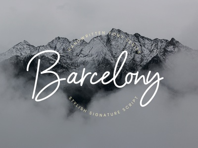 Barcelony Signature stylish script logo ligature handwritten handwriting handlettering free fashion elegant branding