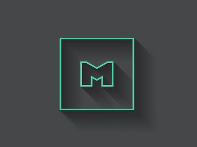 My flat logo. Miguel F.