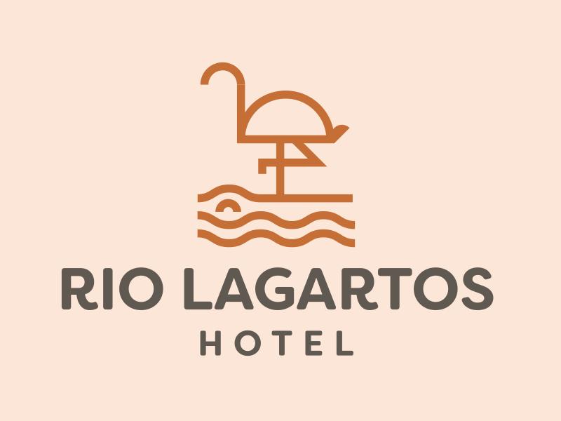 Hotel Rio Lagartos design simple clean monoline branding hotel logo