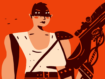 Mad Max: Fury Road Commission character design illustration commission furiosa charlize teron fury road mad max fan art