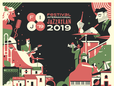 International Jazzatlan festival poster