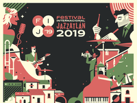 International Jazzatlan festival poster