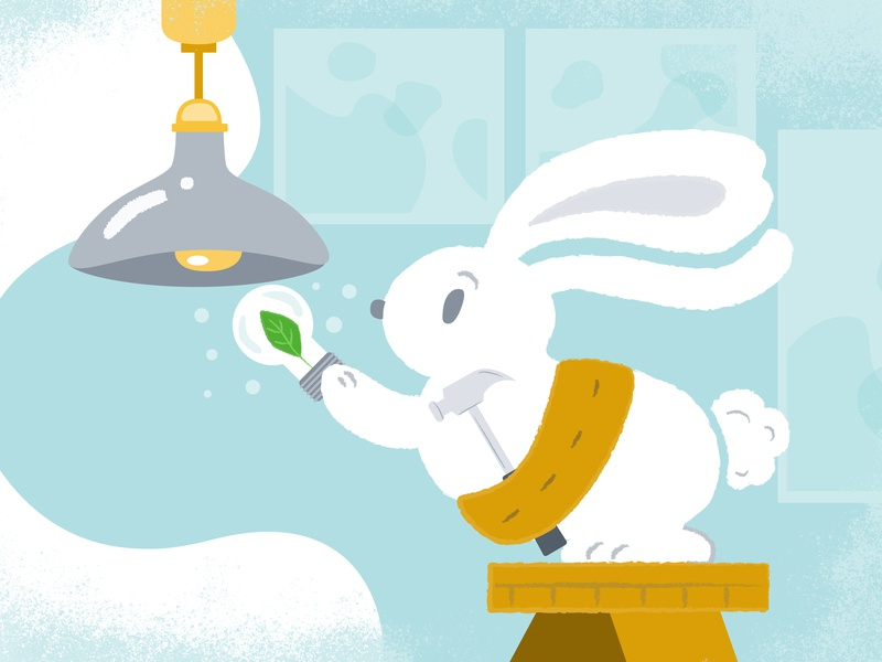 Environmental Day illustration environment day rabbit