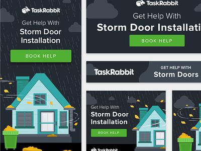 Heavy Rain Ads illustration display ad taskrabbit