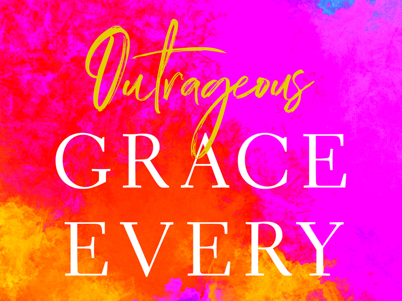 Outrageous Grace Every Day publishing book series harvest house book book design cover design book cover