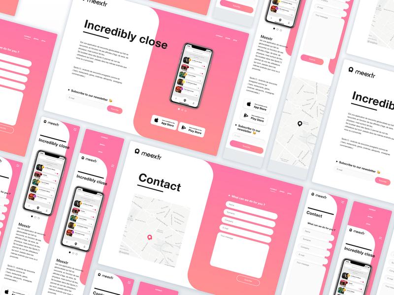 Meextr web options typing crush message gif mobile app ui ux design slide menu iphonexs iphonex dating app ios interaction animation motion app 2018