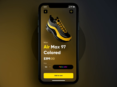 What if, shopping and personalizing was way more engaging? motion design ux motion product design configurator augmented reality sports shop ar innovation 3d app shoes