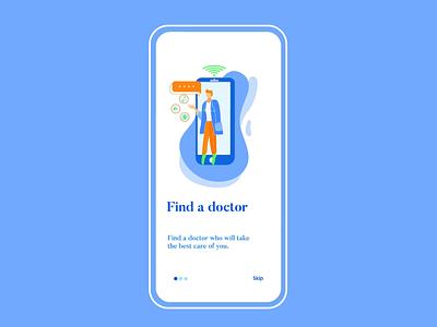 Onboarding Healthcare App UI Animation design graphic branding interface interaction screen splash illustration ux ui mobile app onboarding motion graphics animation