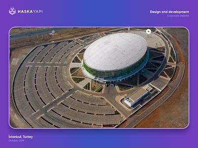 Haska Yapı Corporate Website app design app construction web graphicdesign graphic designer design uxdesign uidesign ui ux webdesign website grafikral