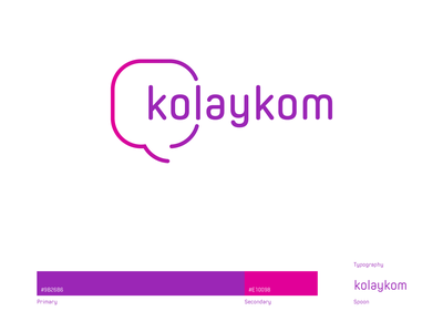 kolaykom branding ux ui app icon logo vector typography minimal design branding