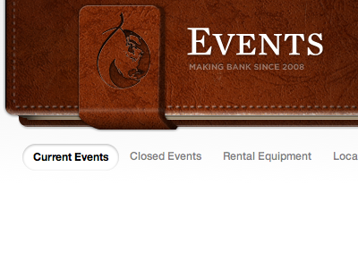 Events event leather planner organizer