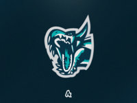 Tsunami Water Dragon Mascot Logo (re-upload)