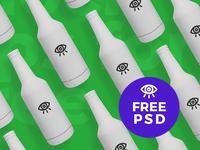 White Beer Bottle / Free PSD Mockup