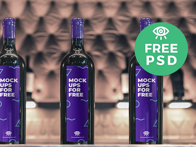 Wine Bottles Mockup download psd freebie mockups bottle wine