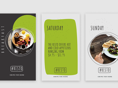 Resto Instragram Stories Template download restaurant mobile free psd freebies instagram stories