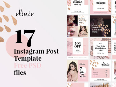 Makeup artist Instagram posts from Mockupsforfree makeup smm freedownload psd freebies post instagram
