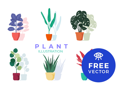 Plant Illustration / Free Vector floral vector freebies illustration plant