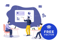 Teamwork Illustration / Free Vector