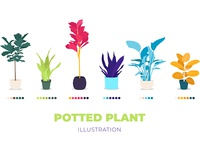 Potted Plant Illustration / FREE vector