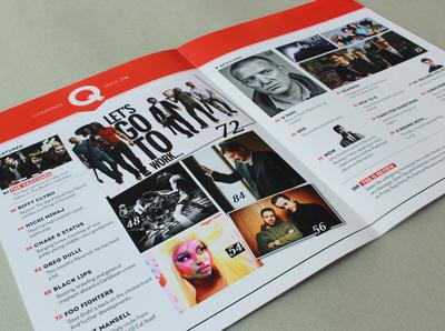 Experimental revamp of Q Magazine