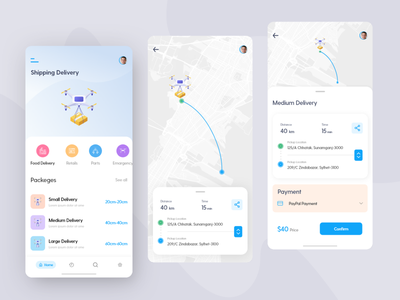 Drone Delivery App mobile application mobile app design mobile design mobile apps mobile app mobile ui drone delivery drone illustration design ui uidesign user experience ux design ios app ux application app designer app ui app design app