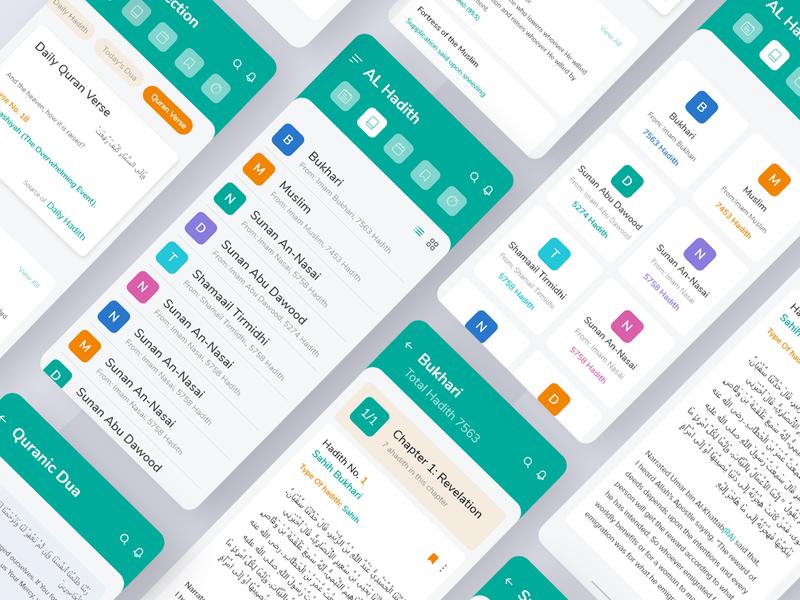 Ahadith App Design uxdesign ux  ui uxui ux app ui design design app app designer app concept branding design app ux client work clientwork client app ui kit app ui hadith application app design app