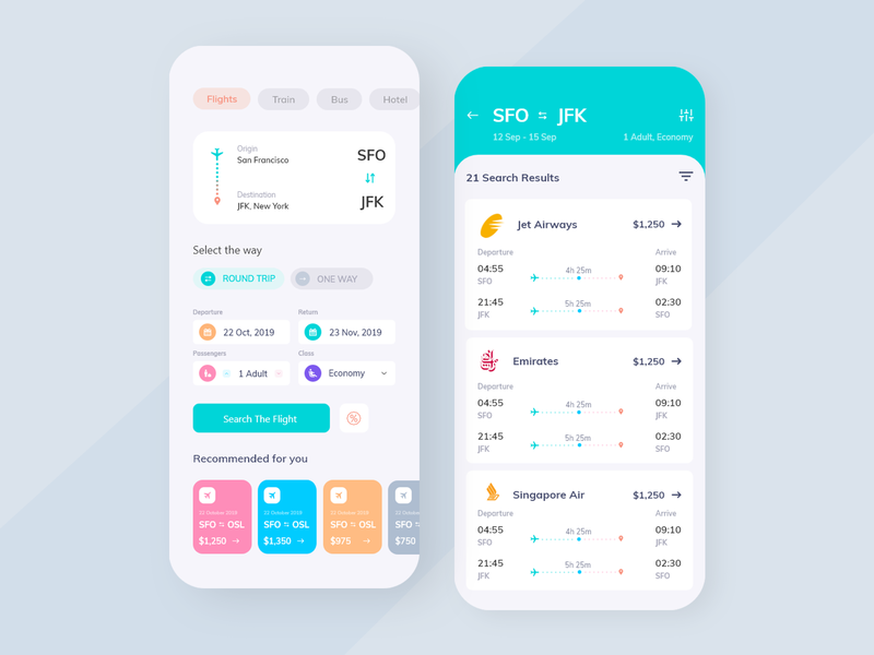 Flight Booking App ui ux uxui flat design ux design user experience user interface deisgn minimal mobile app development mobile application mobile app design mobile apps mobile design mobile mobile app mobile ui flights flight flight app