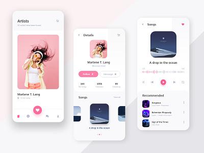 Music Player App mobile app design mobile app landing page ui user interface ux design design user experience uidesign design ui iosdesign mobile app ui. mobile ui 2020