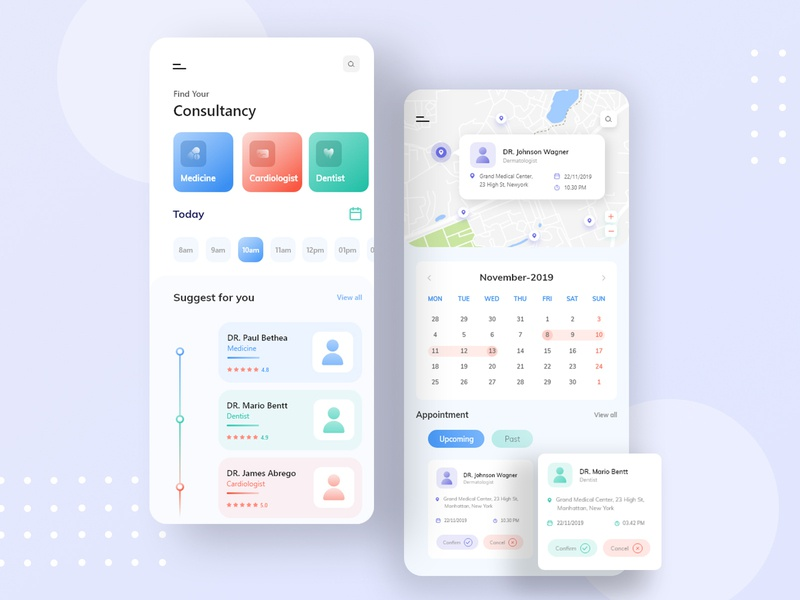 Find Consultancy App concept 2019 2020 android user experience user interface uidesign uiux mobile application mobile app design mobile design mobile apps mobile ui medical design medical care ios mobile app doctor app consultancy medical app
