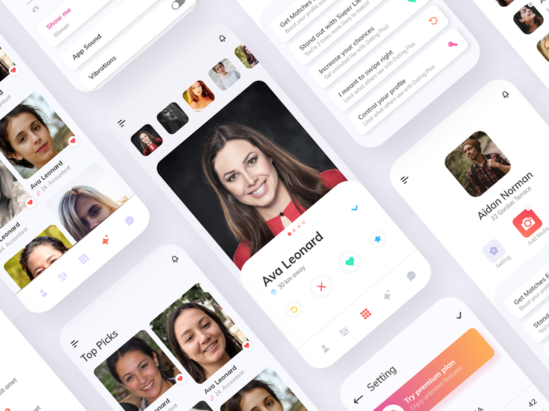 Dating App android ios design ios dating app 2020 2020 trend ux design design branding user experience user interface design ui uidesign mobileappdesign mobile design mobile ui mobile app app datingapp dating